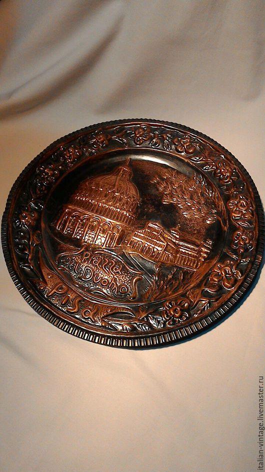 Винтажные сувениры. Ярмарка Мастеров - ручная работа. Купить тарелка декоративная, Италия. Handmade. Коричневый, тарелка сувенирная