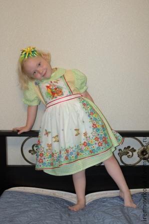 """Одежда для девочек, ручной работы. Ярмарка Мастеров - ручная работа. Купить Платье """"Лисичка""""+ фартучек. Handmade. Платье, одежда для детей"""