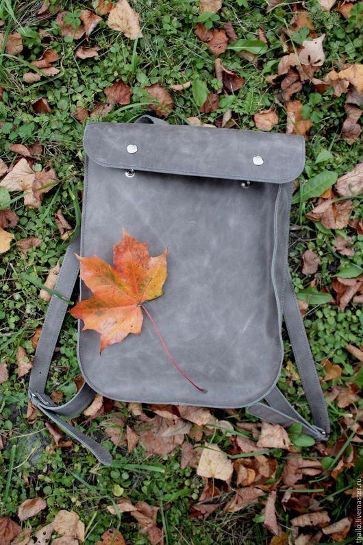 Рюкзаки ручной работы. Ярмарка Мастеров - ручная работа. Купить Рюкзак арт. 295/серый. Handmade. Серый, рюкзак унисекс