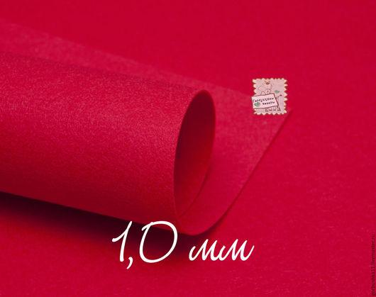 фото фетр жесткий лист, Лист 30*45 см, толщина 1 - 1,1 мм. Цвет красный Горбушкины товары.