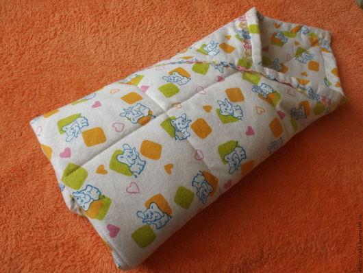 Для новорожденных, ручной работы. Ярмарка Мастеров - ручная работа. Купить Фланелевое одеялко для  малышей. Handmade. Разноцветный, одеяло на выписку