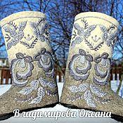 Обувь ручной работы handmade. Livemaster - original item Valenki with embroidery. in stock and on order. Handmade.