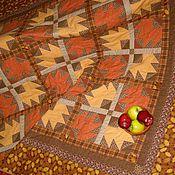 """Для дома и интерьера ручной работы. Ярмарка Мастеров - ручная работа """"Красные листья клёнов"""", лоскутное одеяло.. Handmade."""