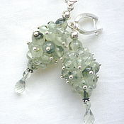 Украшения handmade. Livemaster - original item Earrings with Prehnite and Green Amethyst drops. Handmade.