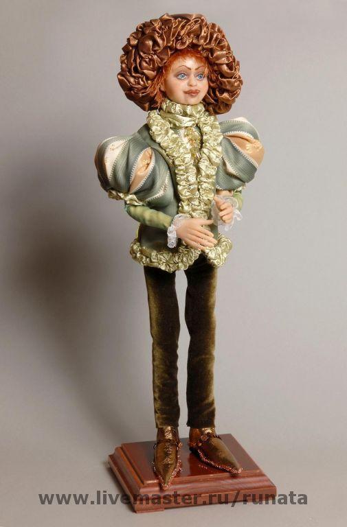 Коллекционные куклы ручной работы. Ярмарка Мастеров - ручная работа. Купить Цветочный принц. Пион необыкновенный влюбленный.... Handmade. бусины