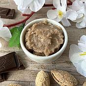 Косметика ручной работы handmade. Livemaster - original item Body scrub sugar Chocolate and almonds. Handmade.