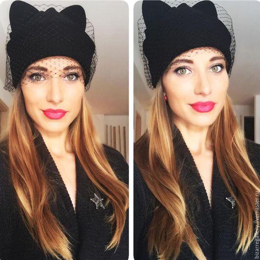 Ушастые шапки-кошки BIZARRE