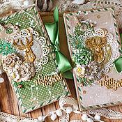 Открытки ручной работы. Ярмарка Мастеров - ручная работа Новогодние шоколадницы. Handmade.