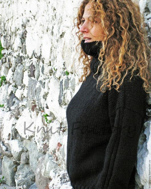 """Кофты и свитера ручной работы. Ярмарка Мастеров - ручная работа. Купить Свитер """"The Black"""". Handmade. Черный, теплый джемпер"""