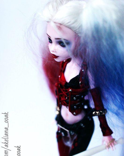 Коллекционные куклы ручной работы. Ярмарка Мастеров - ручная работа. Купить Кукла ООАК  (основа кукла Monster High) Харли Квинн. Handmade.
