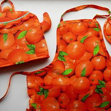Для дома и интерьера ручной работы. Ярмарка Мастеров - ручная работа Апельсиновый комплект для кухни!. Handmade.