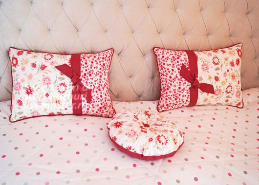 Текстиль, ковры ручной работы. Ярмарка Мастеров - ручная работа. Купить Декоративные подушки в спальню девочки. Handmade. Белый