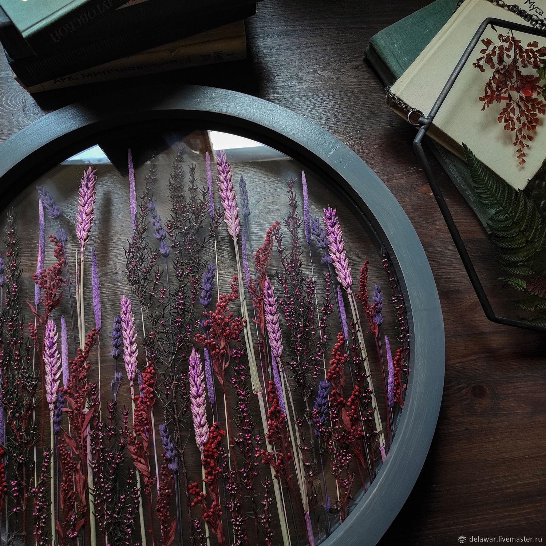 "Круглый гербариум с сухоцветами ""Suvi"" 43 см, Подвески, Москва,  Фото №1"