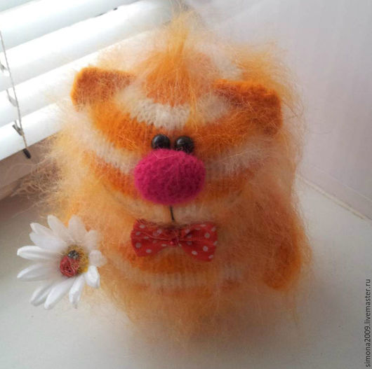Игрушки животные, ручной работы. Ярмарка Мастеров - ручная работа. Купить Рыжий-Рыжий-Полосатый. (Котик Пушистик - интерьерная игрушка). Handmade.