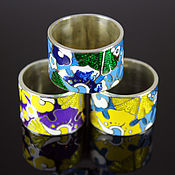 Украшения handmade. Livemaster - original item Forget-me-not ring in 925 sterling silver and enamel. Handmade.