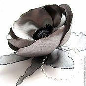 Украшения handmade. Livemaster - original item Brooch-flower Grey Mac. Handmade.