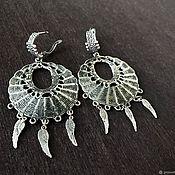 Украшения handmade. Livemaster - original item Large earrings in silver. Stylish jewelry handmade. Handmade.