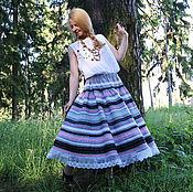 Одежда ручной работы. Ярмарка Мастеров - ручная работа Юбка Кружевель серая. Handmade.