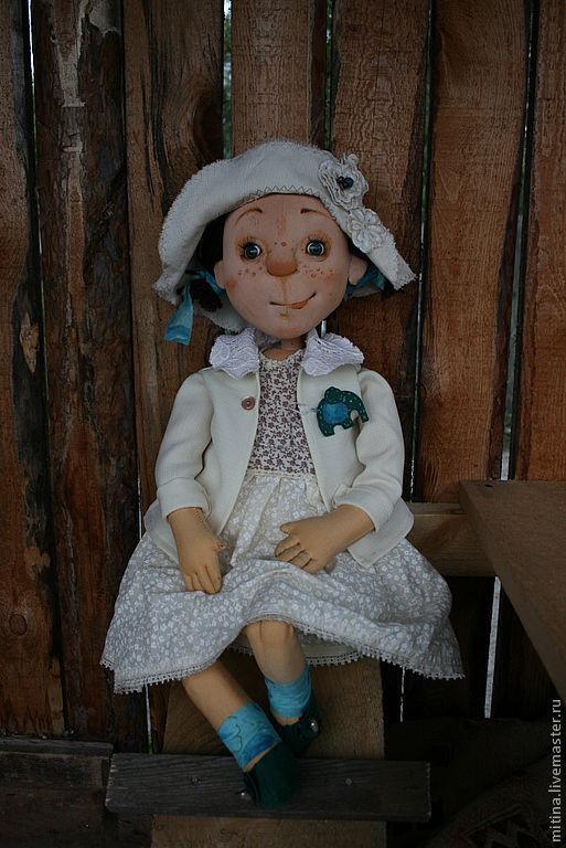 """Человечки ручной работы. Ярмарка Мастеров - ручная работа. Купить Авторская кукла """"Ада"""". Handmade. Бежевый, авторская работа, лён"""