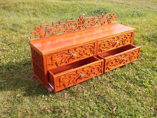 Мебель ручной работы. Ярмарка Мастеров - ручная работа. Купить Комод 1 м 20 см длинной прикроватный массив ясеня. Handmade.