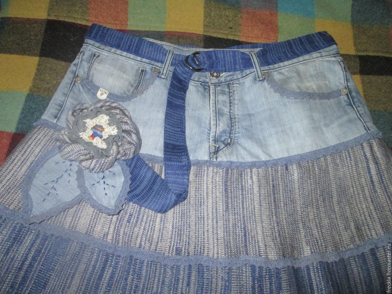 Юбка на кокетке из джинсов