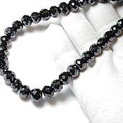 """Колье ручной работы. Ярмарка Мастеров - ручная работа Колье с чёрными бриллиантами """" Королевское """"купить. Handmade."""