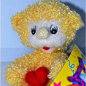 Куклы и игрушки ручной работы. Ярмарка Мастеров - ручная работа Медвежонок Кудряшик. Handmade.