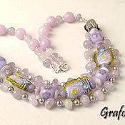 Украшения handmade. Livemaster - original item Short beads of amethyst. Handmade.