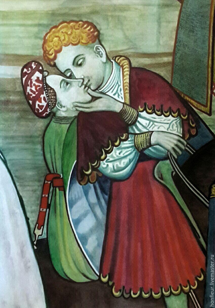 Фонтан жизни, фрагмент фрески Джакомо Жакерио, Италия,15 век, Картины, Москва,  Фото №1
