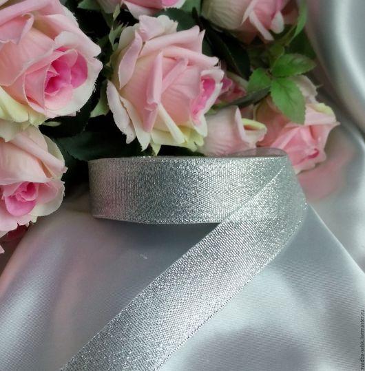 Шитье ручной работы. Ярмарка Мастеров - ручная работа. Купить Лента парча (25 мм) серебро. Handmade. Лента декоративная
