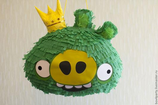 Ростовые куклы ручной работы. Ярмарка Мастеров - ручная работа. Купить Пиньята  «Angry Birds» Король свиней - стандарт. Handmade.