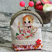 Работы для детей, handmade. Livemaster - original item Children`s wallet with cat. Handmade.