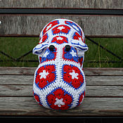 Куклы и игрушки handmade. Livemaster - original item Knitted Hippo Stasik. Handmade.