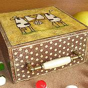 """Для дома и интерьера ручной работы. Ярмарка Мастеров - ручная работа Короб """"Подружки"""". Handmade."""