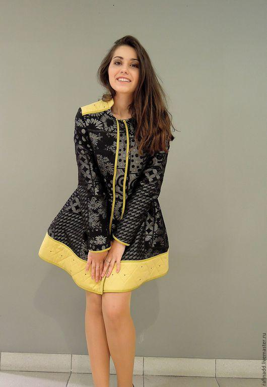 Верхняя одежда ручной работы. Ярмарка Мастеров - ручная работа. Купить Платье-пальто. Handmade. Разноцветный, пальто, жаккардовая ткань