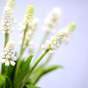Подарки к праздникам handmade. Livemaster - original item Muscari white. Floral sculpture.In ESNA,. Handmade.