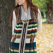 "Одежда handmade. Livemaster - original item Knitted Vest  ""Indiana ""2. Handmade."