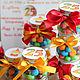 """Свадебные аксессуары ручной работы. Ярмарка Мастеров - ручная работа. Купить Бонбоньерки """"Candy"""". Handmade. Красный, бантики, пироженки"""