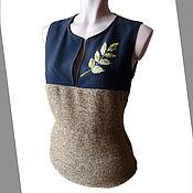 """Одежда ручной работы. Ярмарка Мастеров - ручная работа Блузка-жилетка из плотной ткани """"Осень"""". Handmade."""