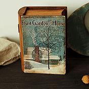 """Для дома и интерьера ручной работы. Ярмарка Мастеров - ручная работа Шкатулка -книга """"Fruit. Garden and Home"""". Handmade."""