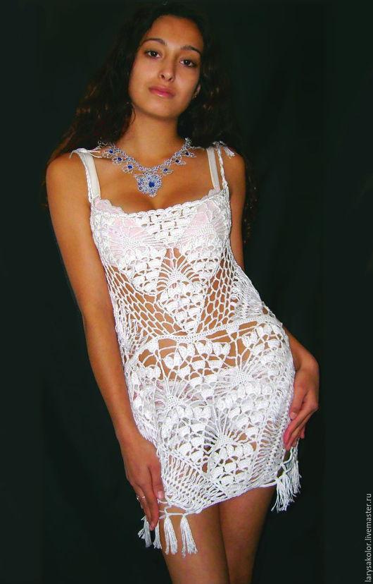 """Платья ручной работы. Ярмарка Мастеров - ручная работа. Купить Платье""""Наоми"""". Handmade. Белый, платье коктейльное, сарафан летний"""
