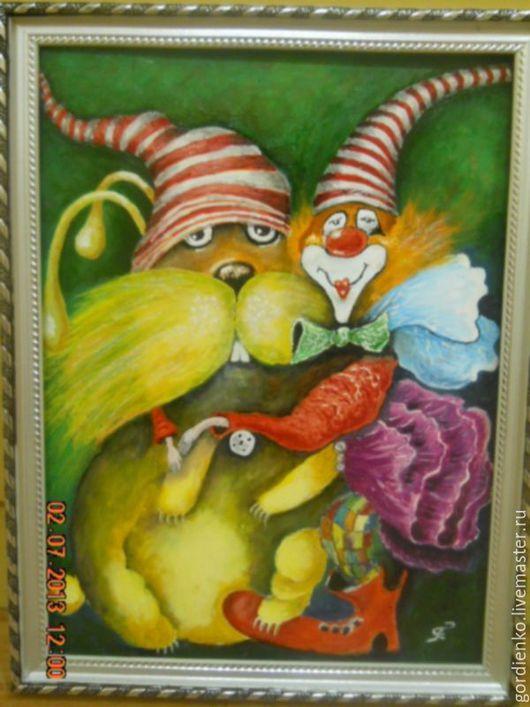 Юмор ручной работы. Ярмарка Мастеров - ручная работа. Купить Мой любимый заяц. Handmade. Картина, клоун, подарок