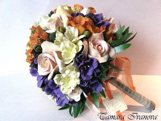 Свадебные цветы ручной работы. Ярмарка Мастеров - ручная работа. Купить Свадебный букет. Handmade. Полимерная глина, полимерная глина