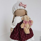 Куклы и игрушки ручной работы. Ярмарка Мастеров - ручная работа Рождественская кукла-малышка Kristi. Handmade.