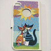 Сумки и аксессуары ручной работы. Ярмарка Мастеров - ручная работа чехол с Кошками для iPhone 4. Handmade.