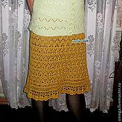Одежда ручной работы. Ярмарка Мастеров - ручная работа Юбка золотая. Handmade.