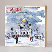Сувениры и подарки handmade. Livemaster - original item Souvenir magnets Moscow. Handmade.