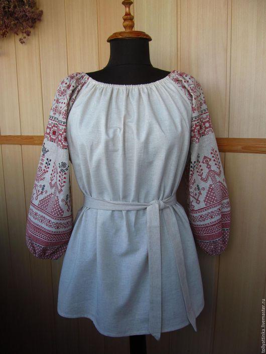 """Одежда ручной работы. Ярмарка Мастеров - ручная работа. Купить Блуза в фольклорном стиле """"Берегиня"""". Handmade. Комбинированный, бохо стиль"""