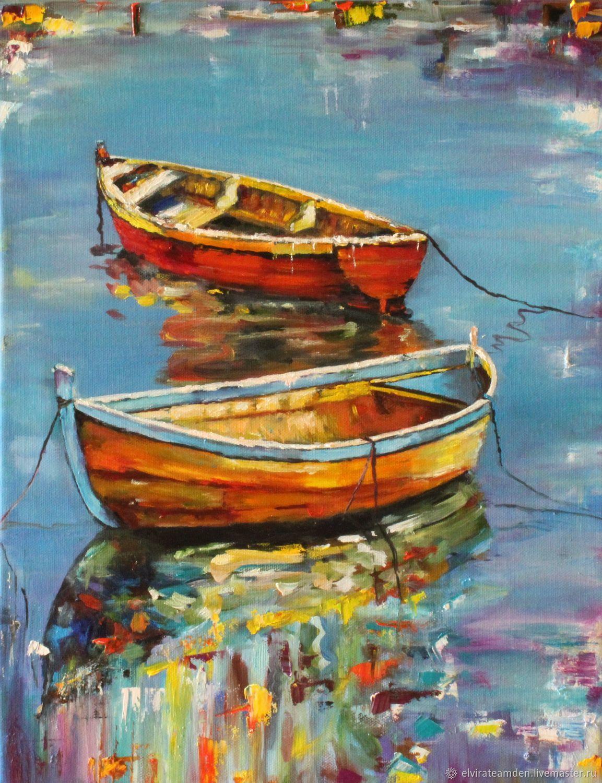 Картина Море Лодки Морской пейзаж, Картины, Санкт-Петербург,  Фото №1