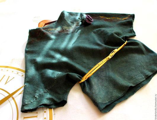 Блузки ручной работы. Ярмарка Мастеров - ручная работа. Купить Блузка валяная  Лесная нимфа. Handmade. Войлок, шёлк малберри